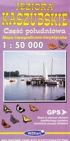 JEZIORA KASZUBSKIE mapa topograficzno-turystyczna 1:50 000 cz.płd. GPS WZKART