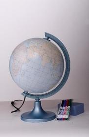 Globus 250mm konturowy z objaśnieniem podświetlany GŁOWALA 0331