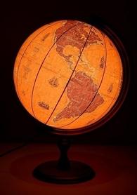 Globus 320mm żaglowce podświetlany GŁOWALA 2533