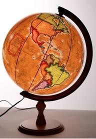 Globus 320mm retro podświetlany GŁOWALA 1024