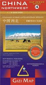 CHINY PÓŁNOCNO ZACHODNIE cz. 4 mapa geograficzna 1:2 000 000 GIZIMAP 2020
