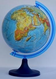 Globus 250mm fizyczny 3D podświetlany GŁOWALA 0836
