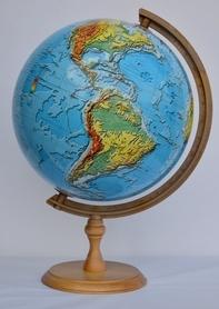 Globus 320mm fizyczny 3D GŁOWALA 2137