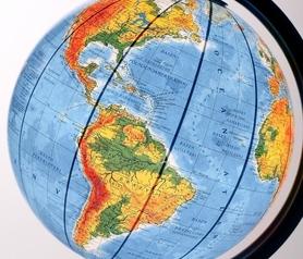 Globus 320 polityczno-fizyczny podświetlany wysoka stopka GŁOWALA 0621
