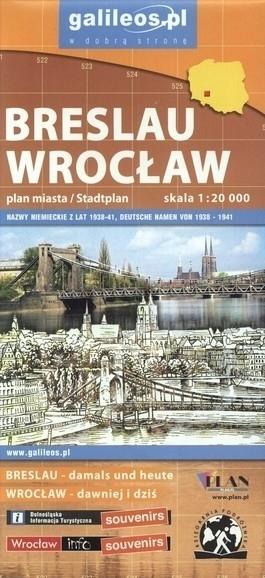 BRESLAU WROCŁAW plan miasta 1:20 000 PLAN 2015