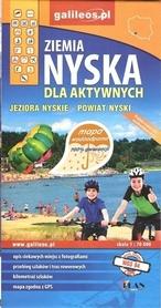 ZIEMIA NYSKA JEZIORA NYSKIE dla aktywnych mapa wodoodporna STUDIO PLAN