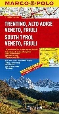TYROL POŁUDNIOWY, WENECJA, FRIULI mapa samochodowa 1:300 000 MARCO POLO