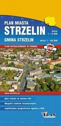 STRZELIN plan miasta i mapa gminy 1:8 000 / 1:40 000 PLAN
