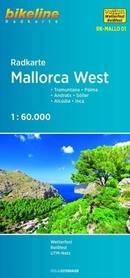 MALLORCA WEST mapa rowerowa BIKELINE