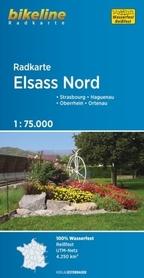 ELSASS NORD mapa rowerowa BIKELINE