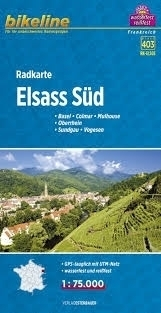 ELSASS SUD mapa rowerowa BIKELINE