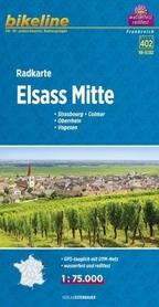 ELSASS MITTE mapa rowerowa BIKELINE