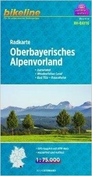 OBERBAYERISCHES ALPENVORLAND mapa rowerowa BIKELINE