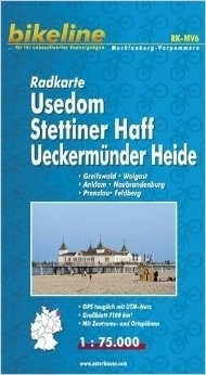 USEDOM STETTINER HAFF UECKERMUNDER HEIDE mapa rowerowa BIKELINE