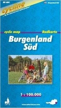 BURGENLAND SUD mapa rowerowa BIKELINE