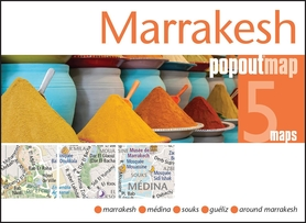 MARAKESZ MARRAKESH mapa/ plan miasta PopOut Map 2014