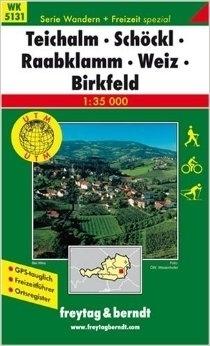 TEICHALM SCHOCKL RAABKLAMM WEIZ BIRKFELD mapa turystyczna 1: 35 000 FREYTAG & BERNDT