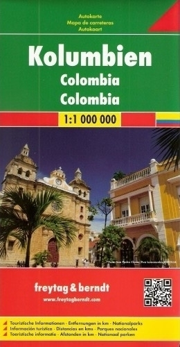 KOLUMBIA COLOMBIA mapa samochodowa 1:1 000 000 FREYTAG & BERNDT