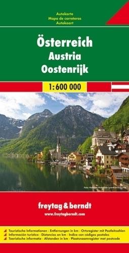 AUSTRIA mapa samochodowa 1:600 000 FREYTAG & BERNDT