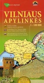 OKOLICE WILNA mapa turystyczna 1:100 000 BRIEDIS