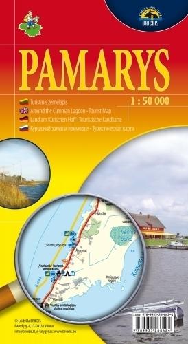 POMORZE LITEWSKIE POŁUDNIE mapa samochodowa 1:50 000 BRIEDIS