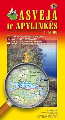 OŚWIE i okolice mapa turystyczna 1:50 000 BRIEDIS