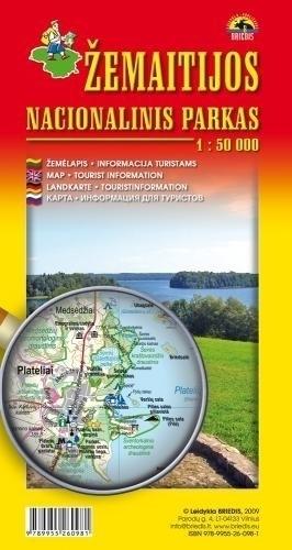 ŻMUDZKI PARK NARODOWY mapa turystyczna 1:50 000 BRIEDIS