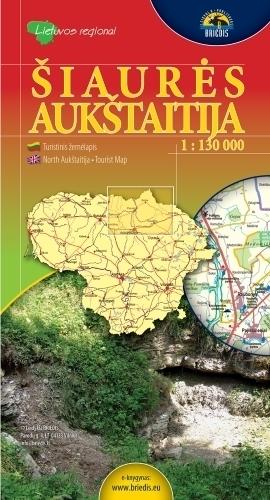 PÓŁNOCNA AUKSZTOTA mapa turystyczna 1:130 000 BRIEDIS