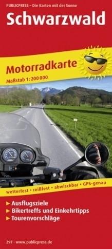 SCHWARZWALD mapa dla motocyklistów laminowana PUBLICPRESS