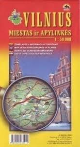 WILNO mapa turystyczna 1:50 000 BRIEDIS