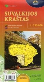 SUWALSZCZYZNA mapa turystyczna 1:130 000 BRIEDIS