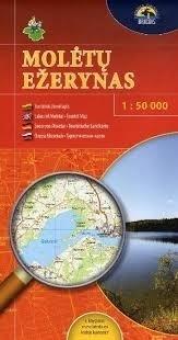 JEZIORA MOLETAI mapa turystyczna 1:130 000 BRIEDIS