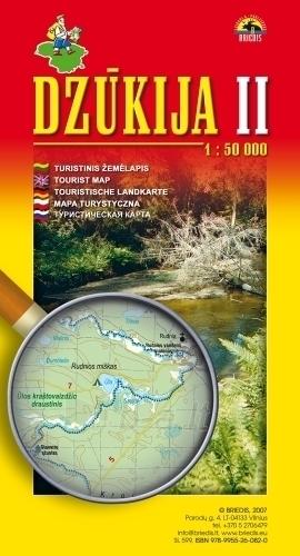 DŻUKIA 2 mapa turystyczna 1:50 000 BRIEDIS