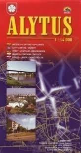 ALYTUS mapa topograficzna 1:14 000 BRIEDIS