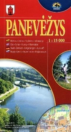PONIEWIEŻ mapa turystyczna 1:15 000 BRIEDIS