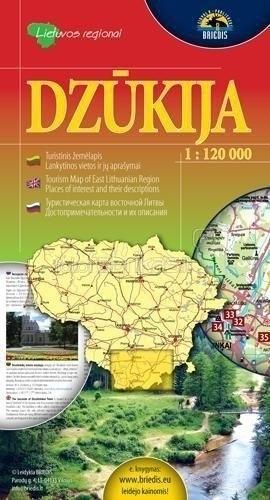 DŻUKIA  mapa turystyczna 1:120 000 BRIEDIS