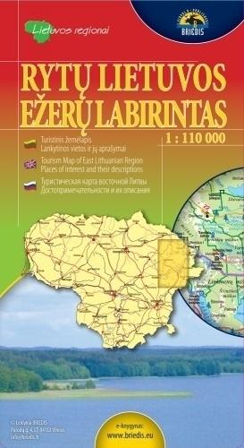 LITEWSKIE JEZIORA wsch. mapa turystyczna 1:110 000 BRIEDIS