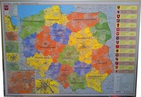 POLSKA magnetyczna mapa administracyjna 1:700 000 EKOGRAF