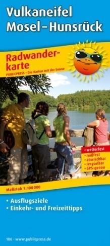 VULKANEIFEL MOSEL - HUNSRUCK mapa rowerowa laminowana PUBLICPRESS