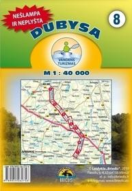 DUBISA DUBYSA mapa kajakowa 1:40 000 BRIEDIS