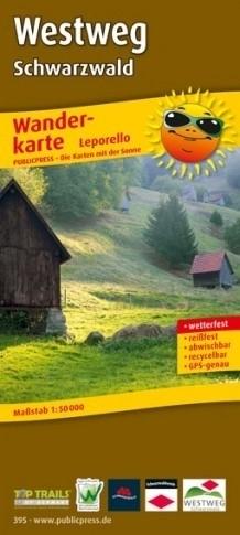 WESTWEG SCHWARZWALD PFORZHEIM - BASEL mapa rowerowa laminowana PUBLICPRESS