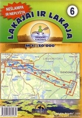 JEZIORA ŁOKAJSKIE I ŁOKAJA mapa kajakowa 1:30 000 BRIEDIS