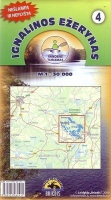 JEZIORA IGNALIŃSKIE mapa kajakowa 1:30 000 BRIEDIS