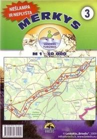 MERECZANKA MERKYS mapa kajakowa 1:30 000 BRIEDIS
