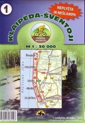 KŁAJPEDA - ŚWIĘTE / Klaipėda-Šventoji mapa rowerowa 1:30 000 BRIEDIS