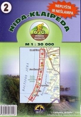 NIDA KŁAJPEDA mapa rowerowa 1:30 000 BRIEDIS