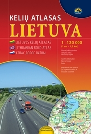 LITWA atlas samochodowy 1:120 000 BRIEDIS