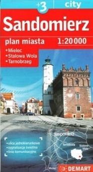 SANDOMIERZ STALOWA WOLA MIELEC TARNOBRZEG plan miasta 1:20 000 DEMART
