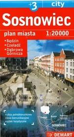 SOSNOWIEC DĄBROWA GÓRNICZA CZELADŹ BĘDZIN plan miasta 1:20 000 DEMART
