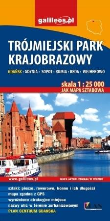 TRÓJMIEJSKI PARK KRAJOBRAZOWY mapa turystyczna 1:25 000 STUDIO PLAN
